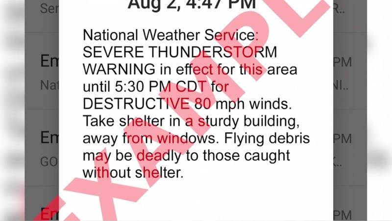 NWS to send phone alerts for severe thunderstorms