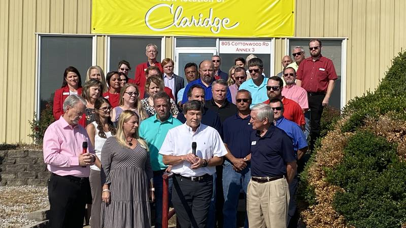 Claridge will be relocating to a new facility which may create new jobs in Harrison.