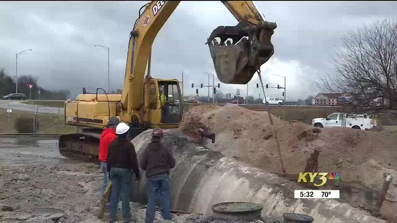 Removal of underground gas tank