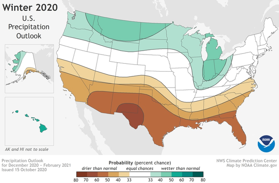 Winter 2020-2021 Precip Outlook