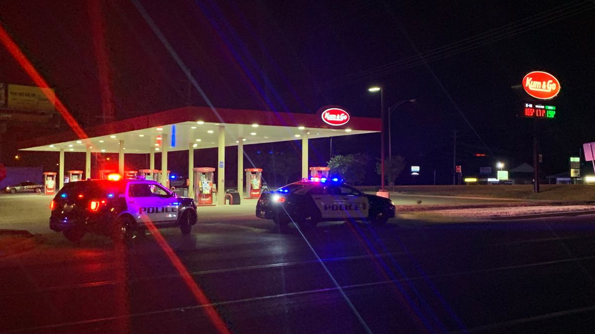 Police are responding to an alleged armed robbery in the 5300 block of South Campbell around 12:40 A.M.