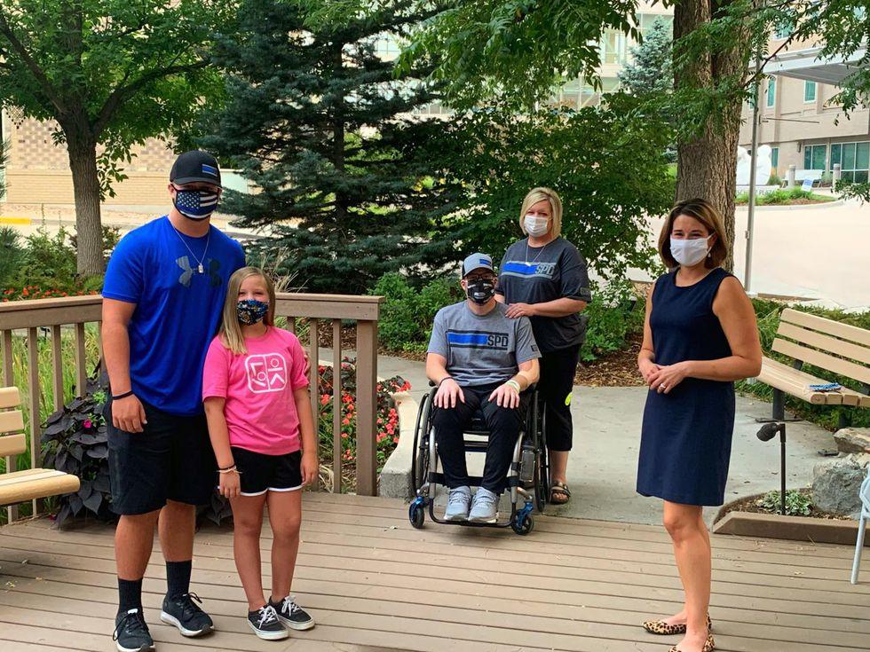 Ashley Reynolds interviews Priebe family in Colorado.