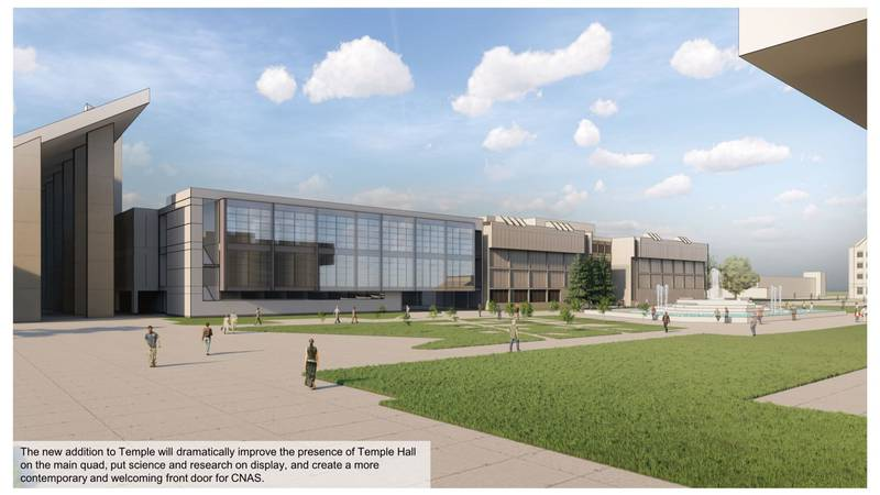 Temple Hall, Missouri State's base for the College of Natural and Applied Sciences since 1971,...