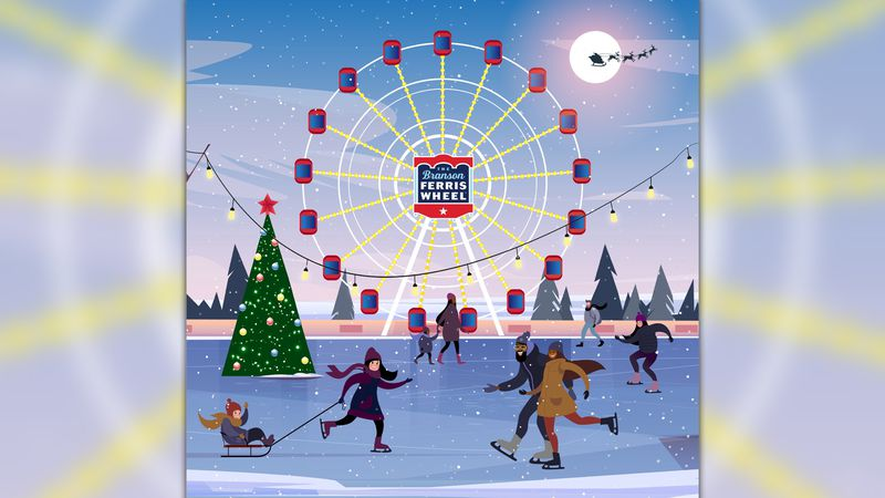 Branson is planning to open an ice rink near the Ferris Wheel in mid-November.