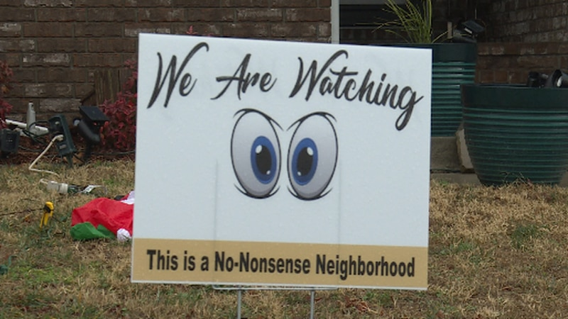 A north Springfield neighborhood is using social media, bonding, and some cartoon eyes to help...