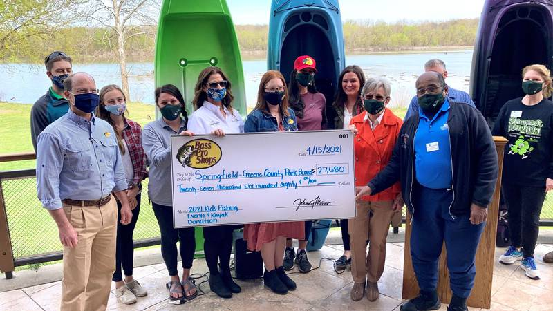 Bass Pro Shops donated 40 new kayaks to the Springfield-Greene County Park Board for the new...