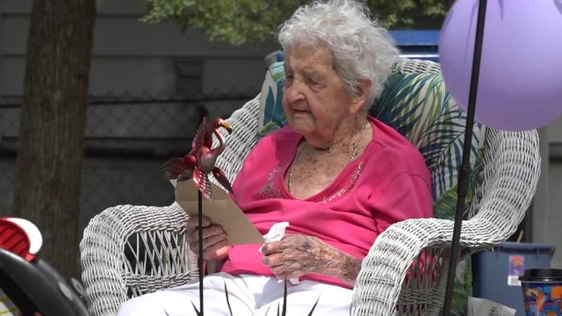 Lilly Parman celebrates her 108th birthday.