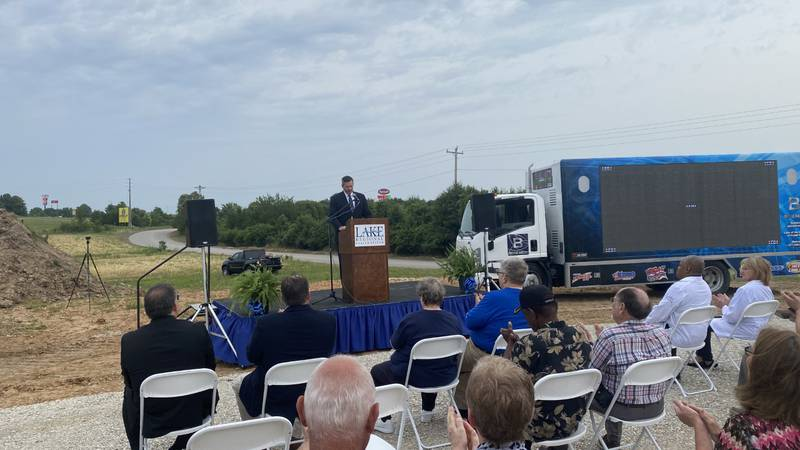 Ground Breaking ceremony at Lake Regional Health System.