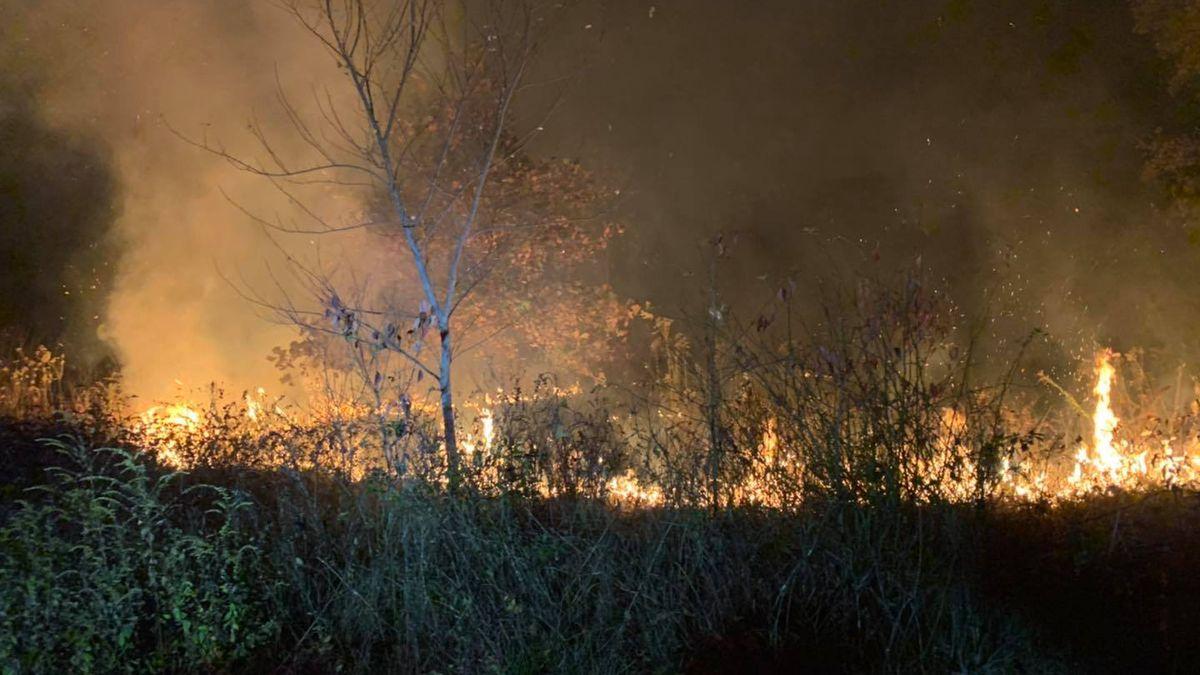 Firefighters believe fire was intentionally set