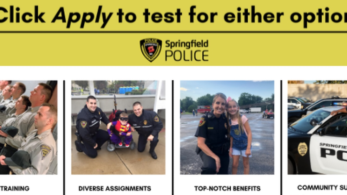 Police recruiting webpage