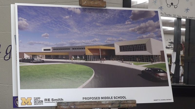 A new middle school is in the final design stages and is set to break ground in June.