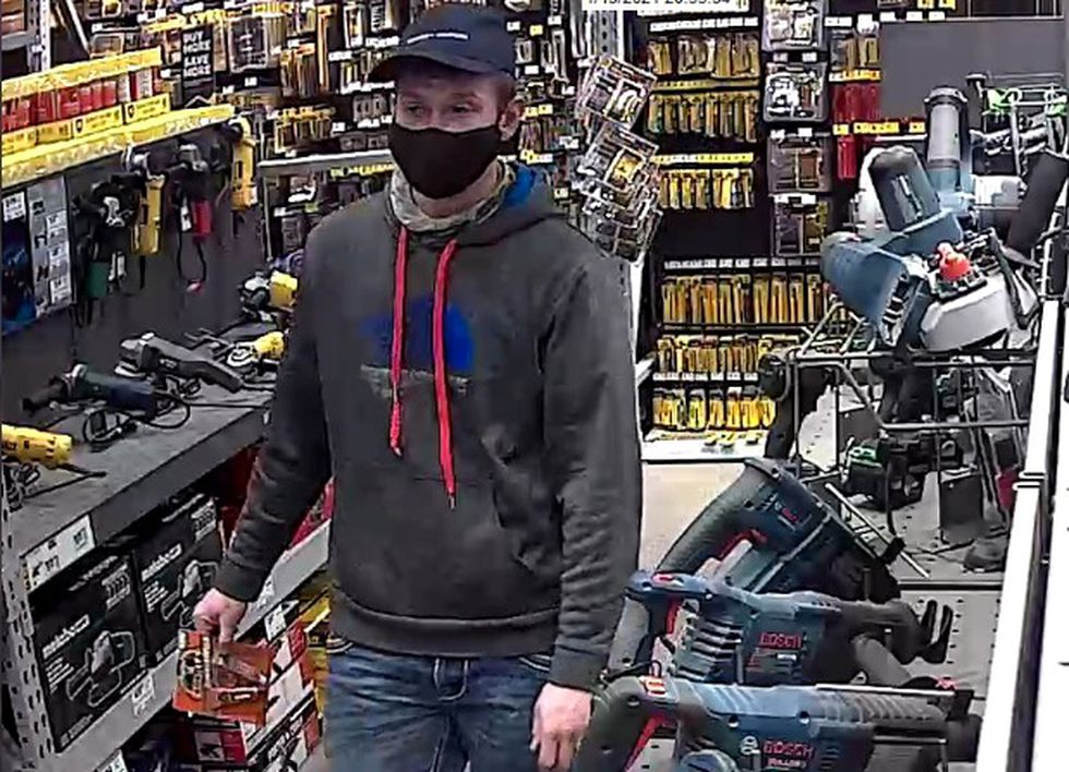 Greene County deputies say this man used a stolen credit card at a Springfield hardware store.