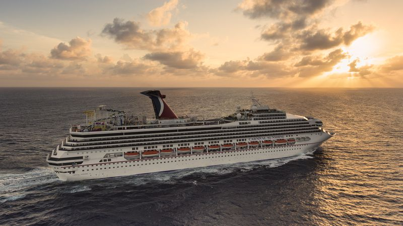 Pictured is the Carnival Cruise Line ship Carnival Sunshine near Grand Cayman.