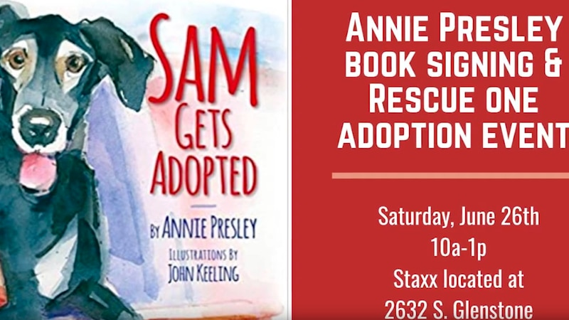 Author Annie Presley joins Rescue One for a book signing and pet adoption event in Springfield,...