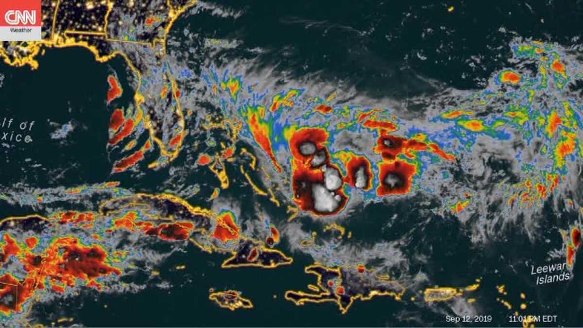 Another tropical system is expected to hit the Bahamas islands slammed by Hurricane Dorian. (Source: CNN)