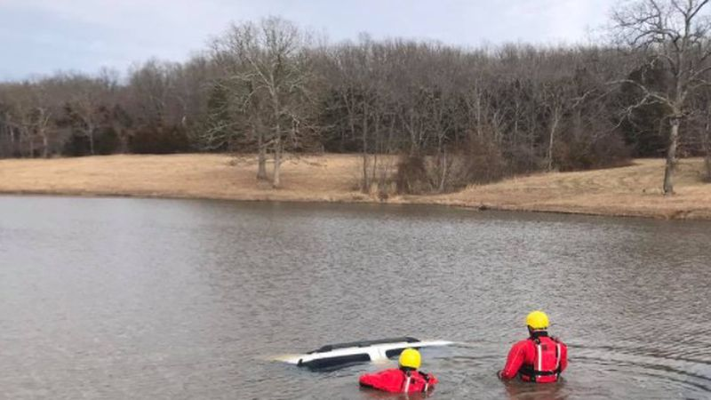 Crews recovered a stolen car Thursday afternoon from pond near Rolla.
