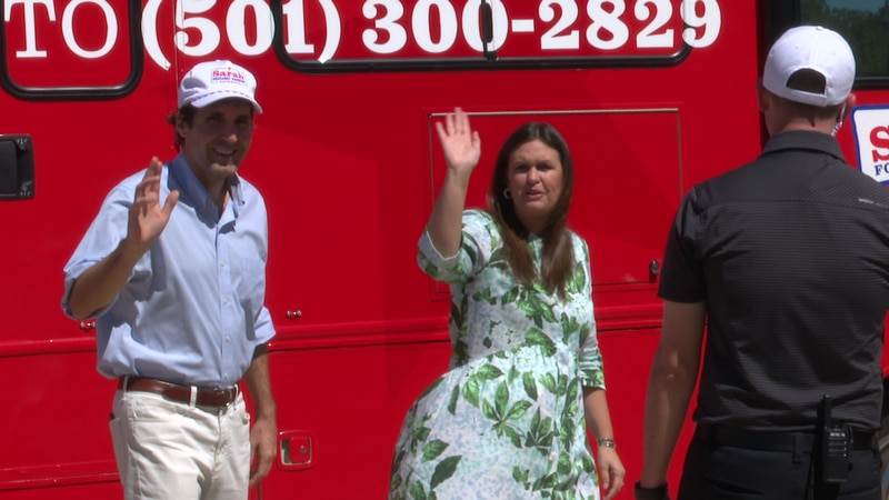 Huckabee-Sanders campaigned in Mountain Home Wednesday, as apart of her Freedom Tour.
