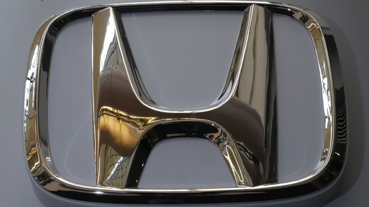 The Honda logo is seen on display at the 2020 Pittsburgh International Auto Show, Thursday,...