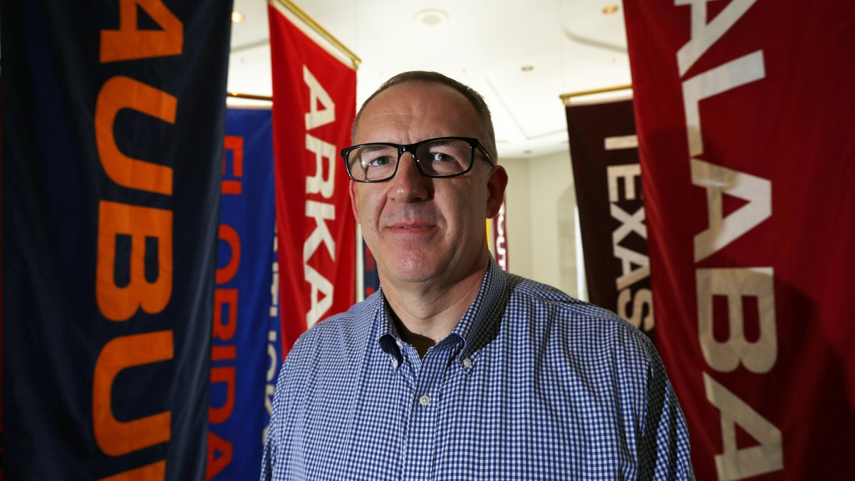 FILE - In this May 23, 2016, file photo, Southeastern Conference commissioner Greg Sankey...