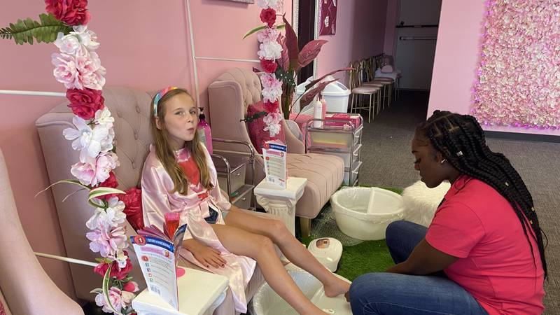 Children can enjoy specially crafted spa services at Prettii Princess Kids Spa in Springfield,...