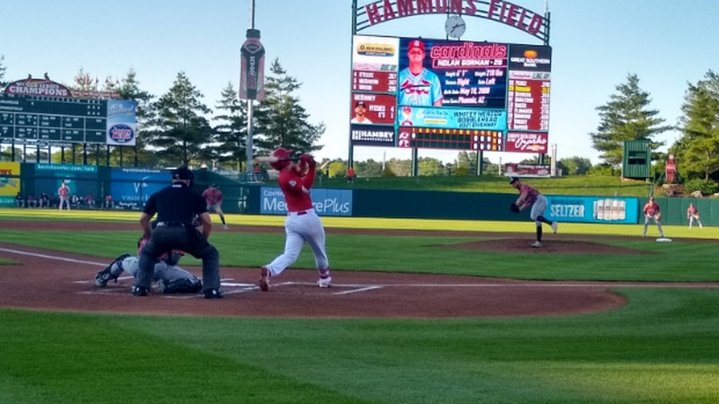 Nolan Gorman is heating up with the summer-like weather, slugging three home runs in the...