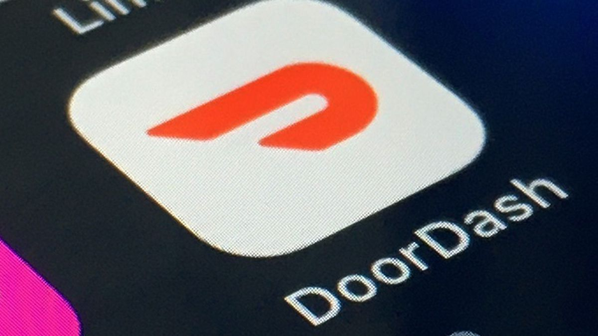 FILE - The DoorDash app is shown on a smartphone on Feb. 27, 2020, in New York.