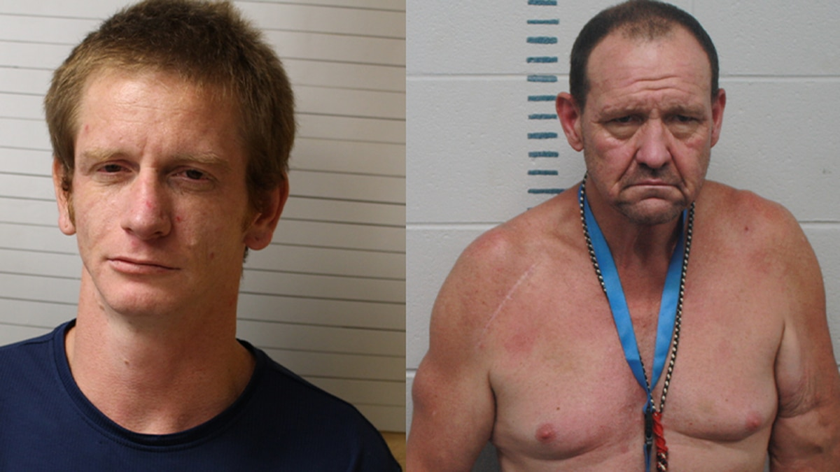 Police arrested Christopher F. Hogue, 32, and Jason T. Vanatter, 52.