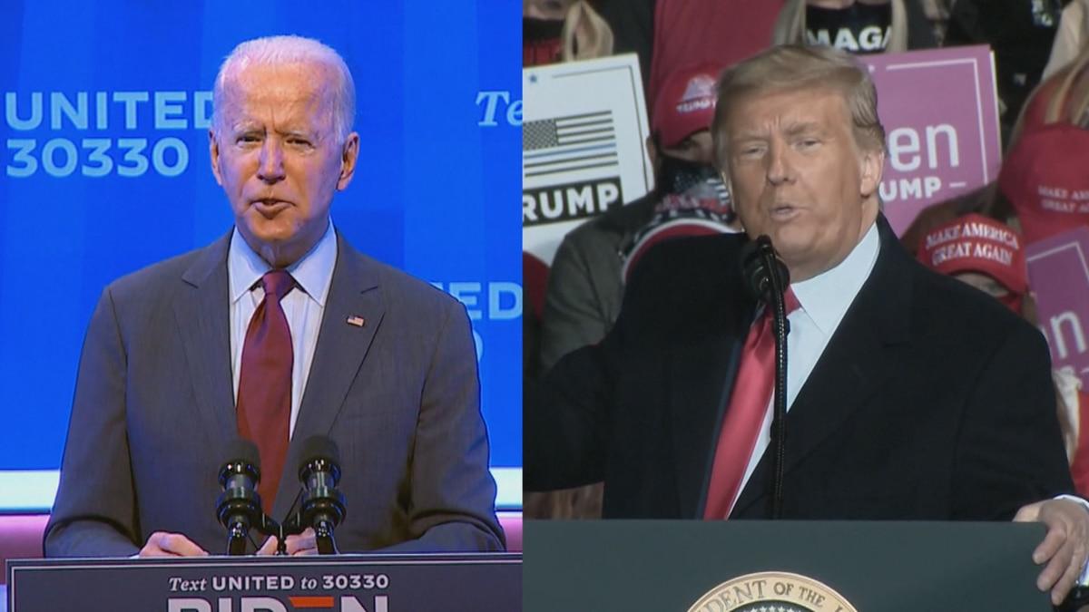 Former Vice President Joe Biden and President Donald Trump