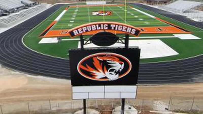 The new Republic High School football field was completed in 2018.