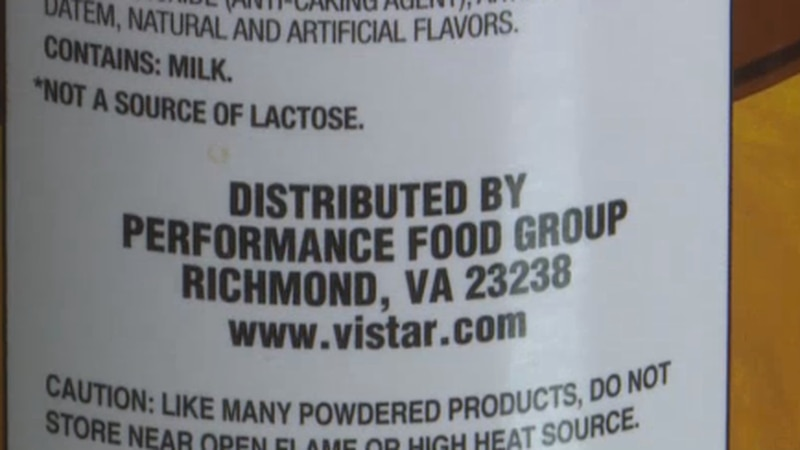 Distributed by on food label