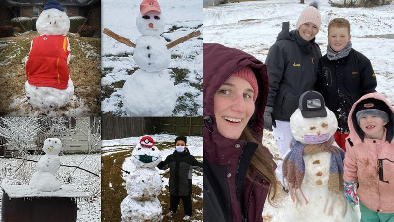 Families in Springfield, Nixa, Republic and Strafford all shared snapshots of super snowmen...