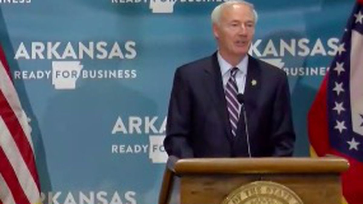 He addressed the state at his daily briefing in Little Rock.