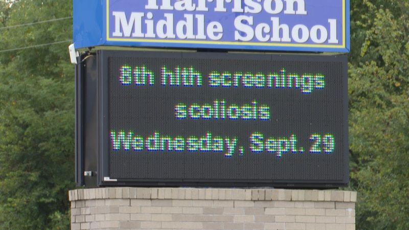 Harrison Schools is apologizing for lack of communication on state mandated scoliosis screening