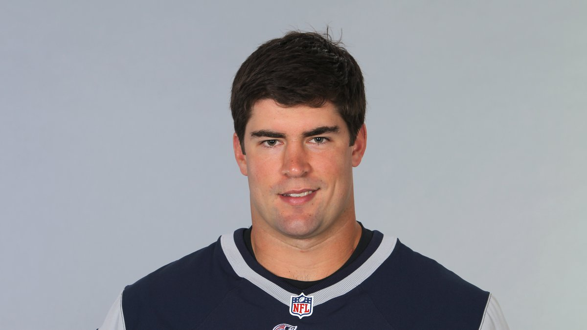 This is a 2014 photo of Jake Bequette of the New England Patriots NFL football team. This image...