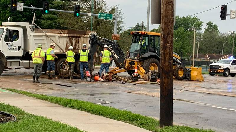 Crews expect repairs to be done around noon and until then to avoid the area.
