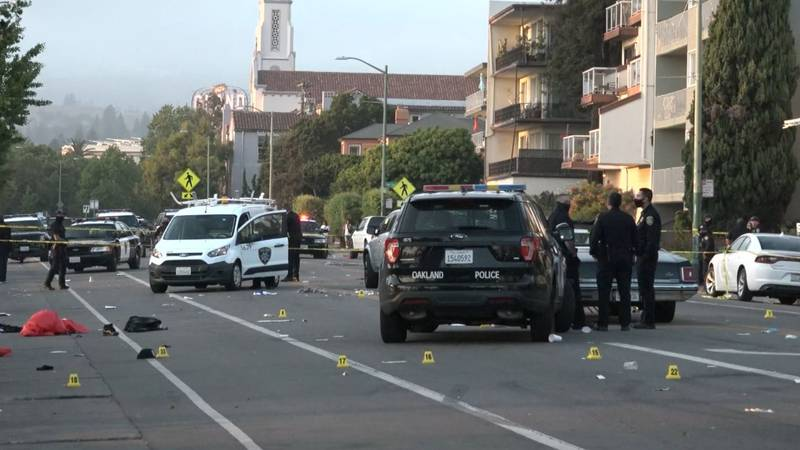 One person was killed and five people were wounded in an Oakland, Calif., shooting. Two people...