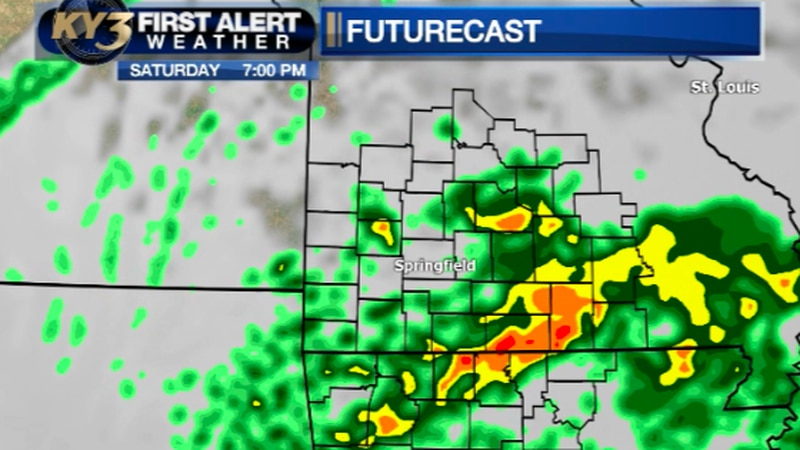 Heavy rain possible Saturday night