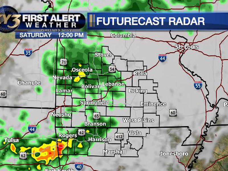 Periods of showers and thunderstorms are forecast this weekend.
