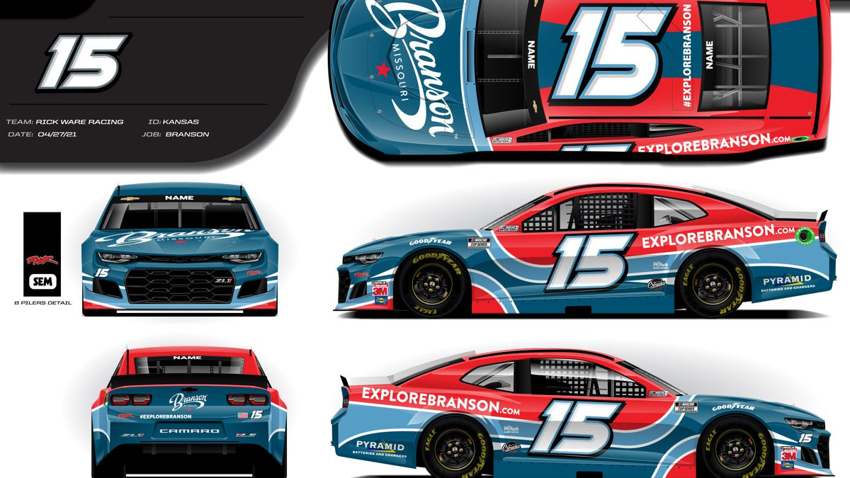 NASCAR driver Joey Gase will compete Sunday at the Kansas Speedway with several decals...