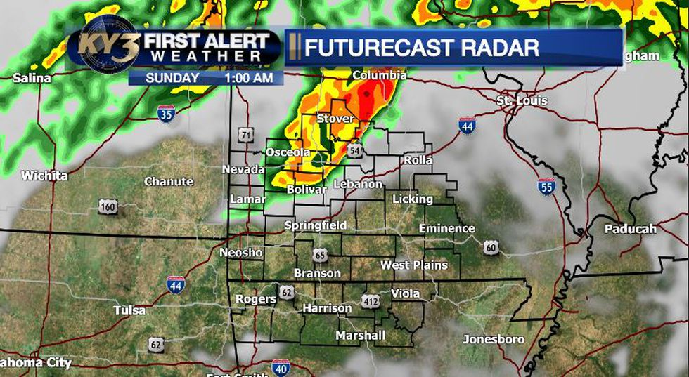 More storms overnight Saturday