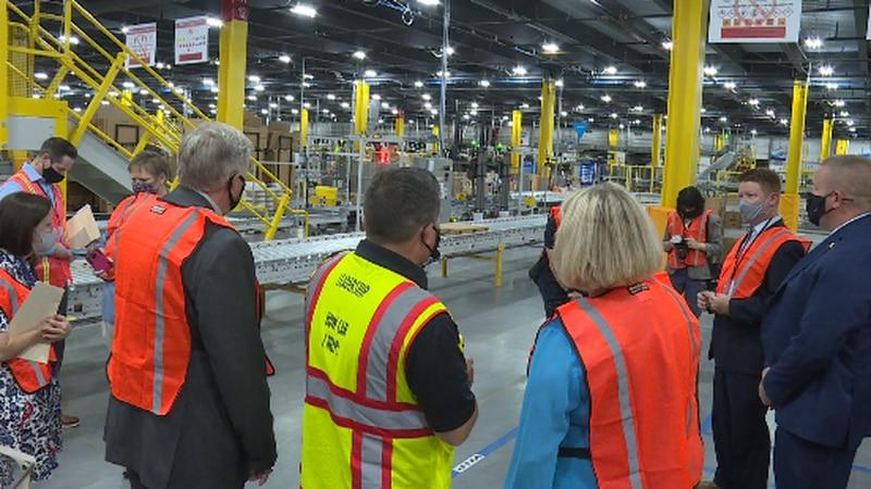 Missouri Governor Mike Parson toured the new Amazon Fulfillment Center in Republic on Monday....