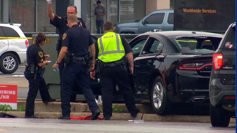 An eyewitness to what's believed to be a shooting-related accident at Campbell and Sunshine in...