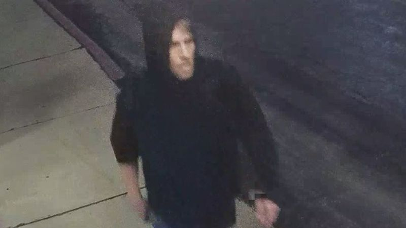 Officers say security video caught this man stealing from several vehicles this week.