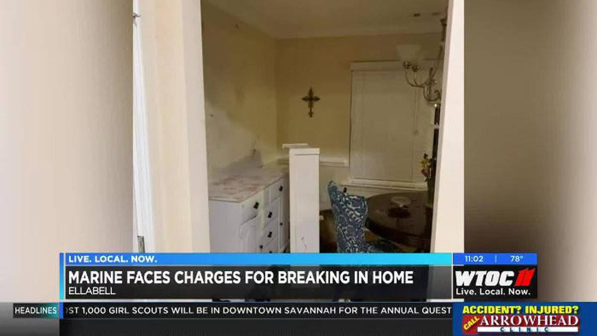 Marine faces charges after breaking into home, family terrified by horrific scene. (Source: WTOC)