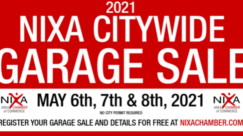 Nixa Citywide Garage Sale sign