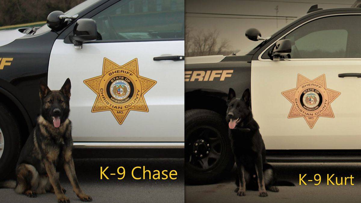 The Christian County Sheriff's Office brings on K-9 Chase, a 13-month-old K-9 born in...