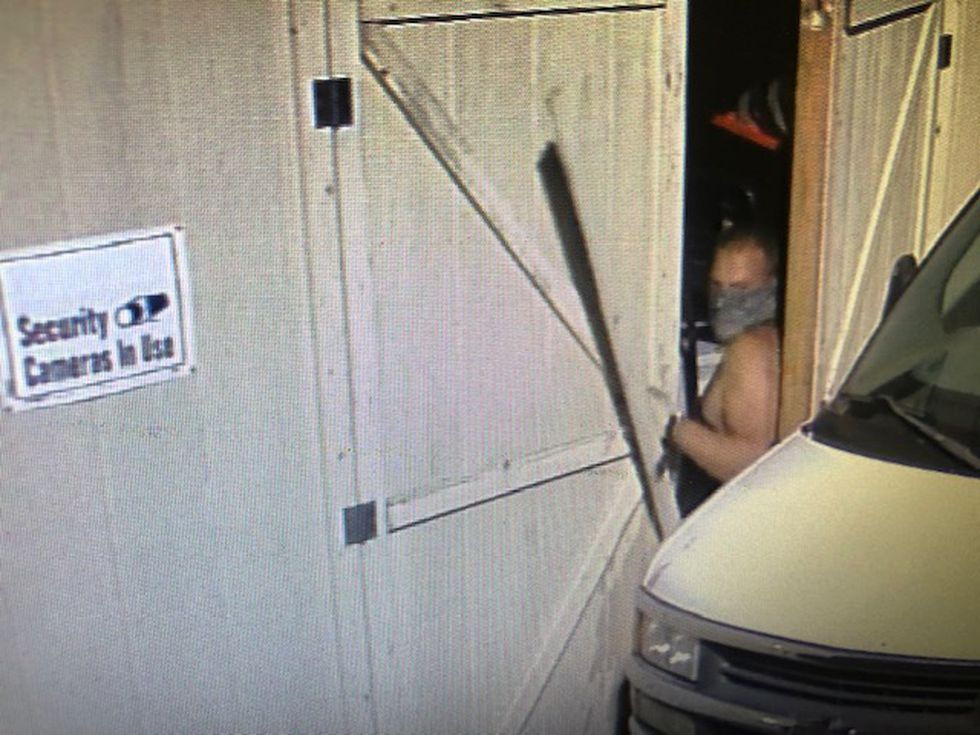 The Greene County Sheriff's Office says the first man broke into a shed.