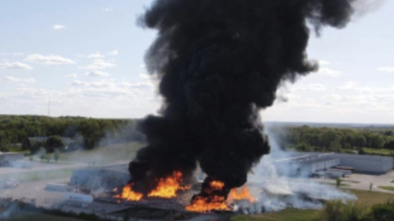 Witnesses share images of fire at propane plant in Marshfield, Mo.