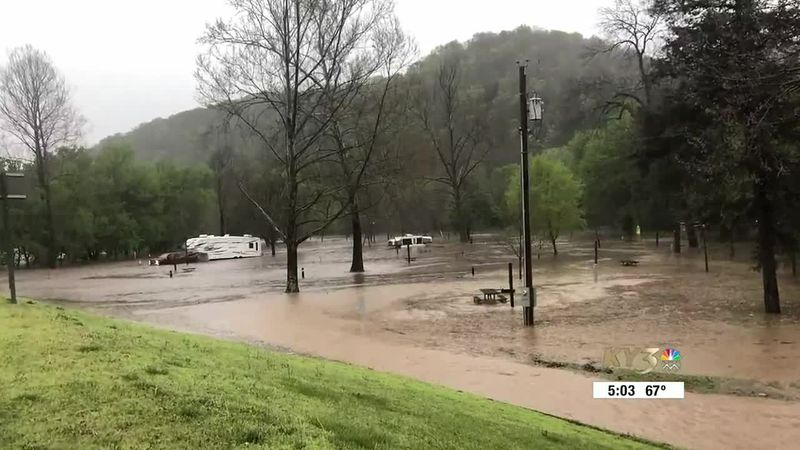 Three campgrounds evacuated at Roaring River State Park.