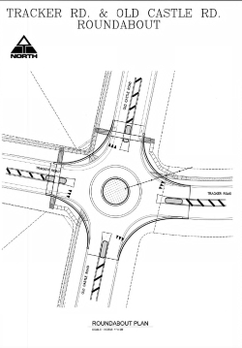 Construction starts Septemeber 20th for a new roundabout at the intersection of East Tracker...